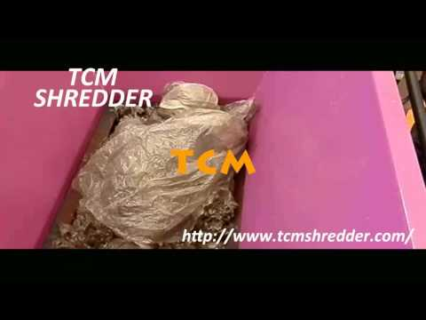 Thin film plastic shredding machine
