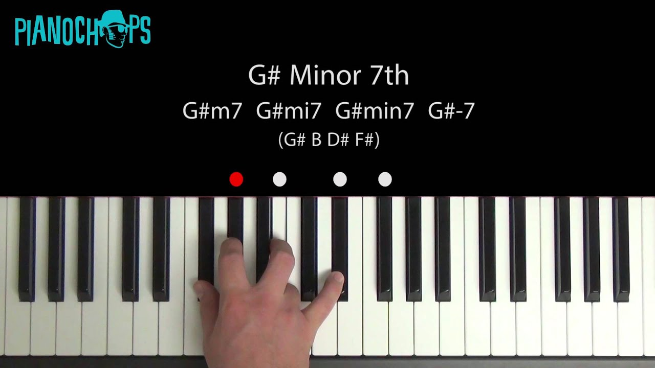 B Minor Chord Piano G# (sharp) minor 7 on ...