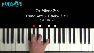 G# (sharp) minor 7 on Piano - G#m7