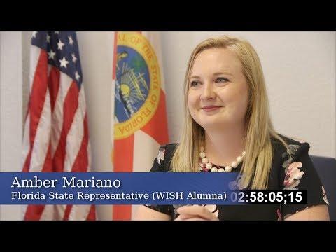 Florida St. Representative Amber Mariano (WISH Alumna) WISH Testimonial 2
