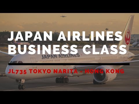 Japan Airlines JL735 Tokyo Narita - Hong Kong Business Class Flight Review