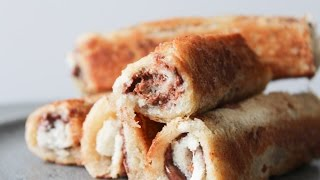 How To Make Nutella And Peanut Butter Roll Ups - By One Kitchen Episode 491
