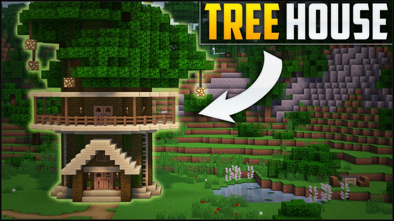 Simple minecraft tree houses images for How to build my house
