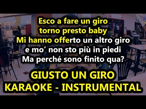 Marracash ft. Emis Killa: GIUSTO UN GIRO (Karaoke - Instrumental)