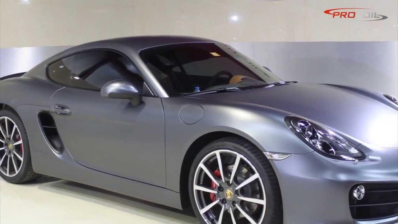 Car Wrap Satin Wrap In Dubai Porsche Cayman 2014 Wrapped