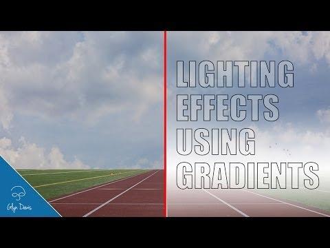 PHOTOSHOP TUTORIAL: Adding Lighting Effects using Gradients #41
