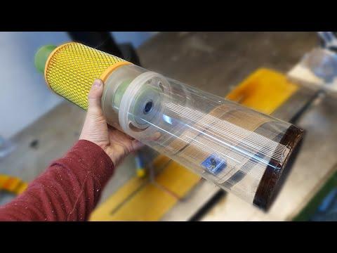 Самодельный беспроводной мини-пылесос с прозрачным циклоном. Часть 1.