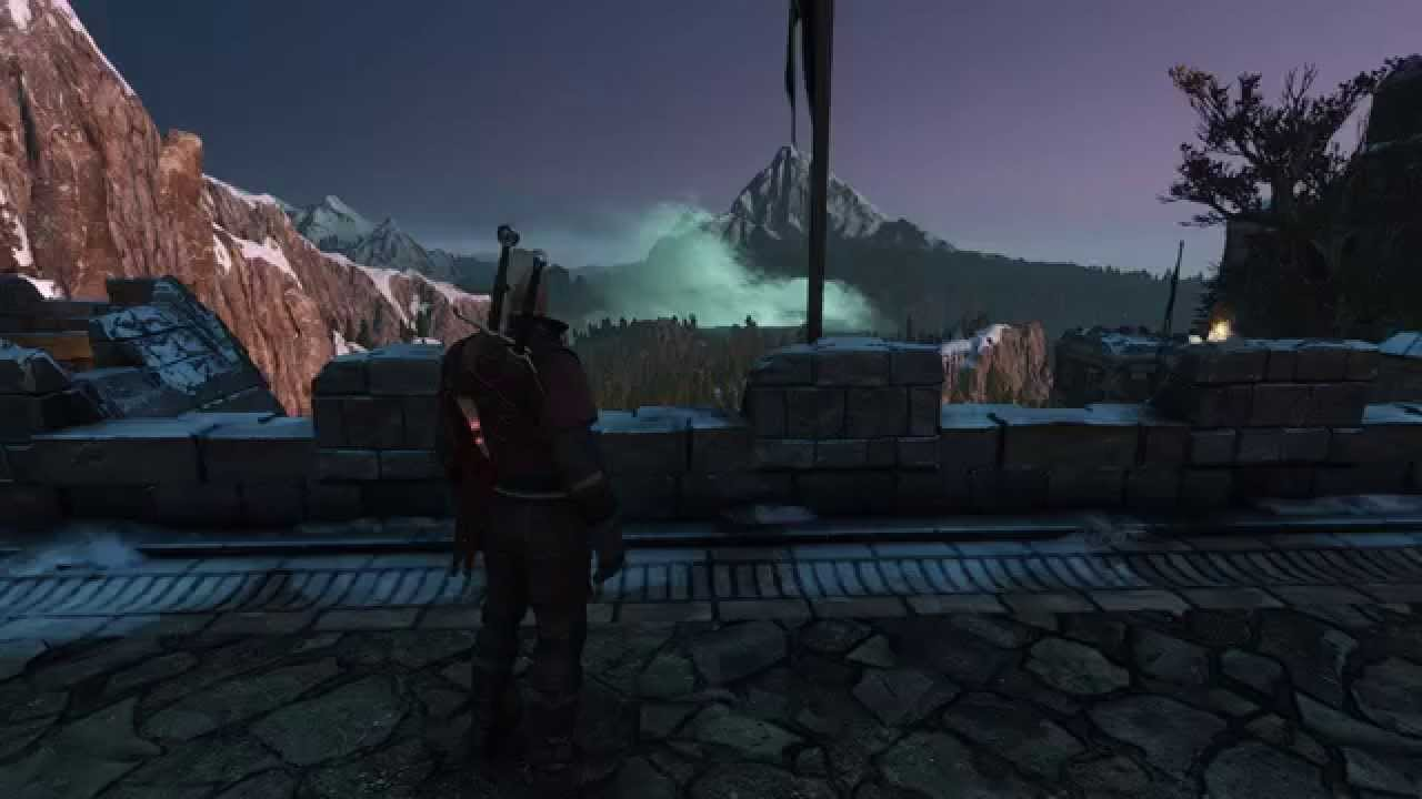 The Witcher 3 Semi-volumetric clouds in Skellige - Mod test