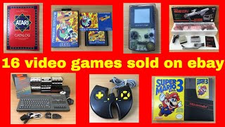 16 Video Games I sold on ebay - ebay reselling - How to make money on ebay