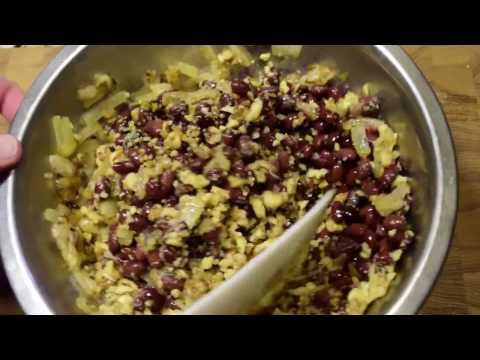 Салат из фасоли с грецким орехом