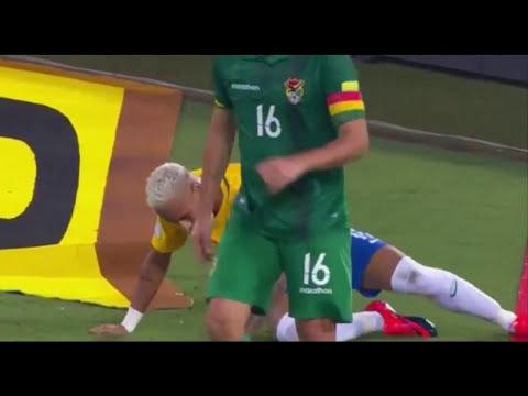 Heboh ! Detik-detik Kepala Neymar Bocor Mengeluarkan Banyak Darah ( Brasil vs Bolivia )