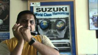 Prasanna-Playing Suzuki Harmonica- Indian Song
