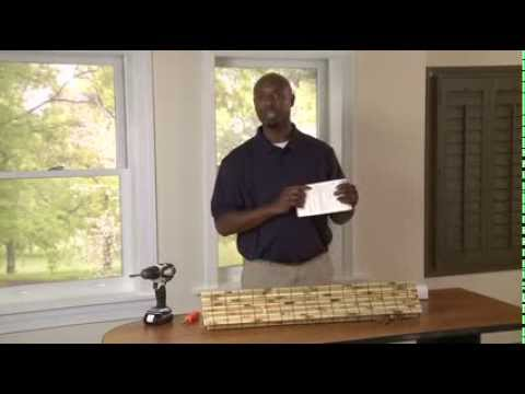How to Install Outside Mounted Natural Roman Shades