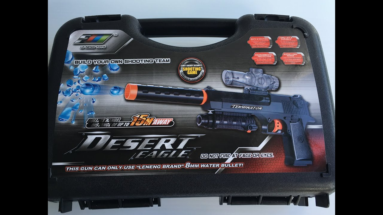 Fully Automatic Desert Eagle Toy Gun - Hydro-Blaster Gel ball shooter |  Backyard Blasters
