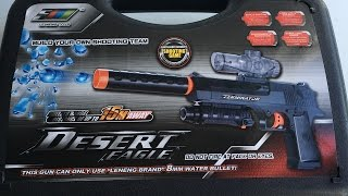Fully Automatic Desert Eagle Toy Gun - Hydro-Blaster Gel ball shooter | Backyard Blasters