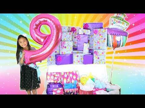Tiana Opening Presents On Her 9th Birthday! What I Got For My Birthday Haul 2018