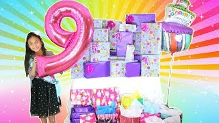 Gifts Tiana Got For Her 9th Birthday 2018. Opening Presents Birthday Morning.