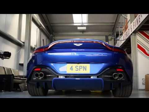 Aston Martin Vantage 2019 Quicksilver Active Supersport Quad Tip Exhaust Youtube