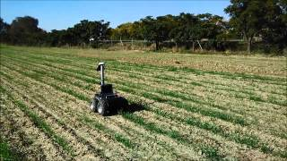 Fuzzy visual servoing for a small crop-inspection robot