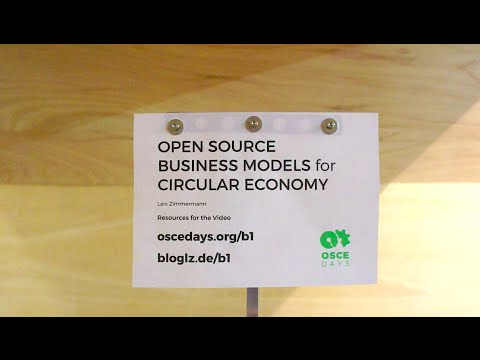 Open Source Business Models for Circular Economy – Video 9/9 – Income Streams