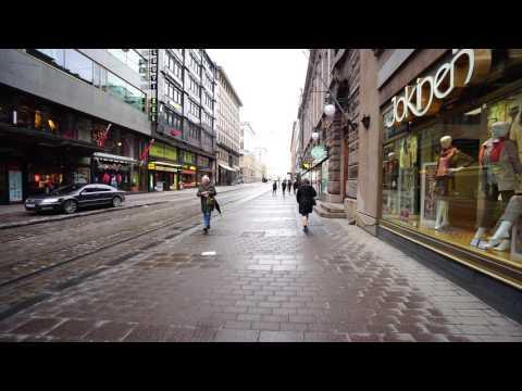 Finland, Helsinki, walking from Galleria Esplanad to Kluuvi