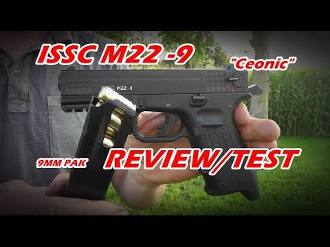 """ISSC M22  9 """"Ceonic"""" Review // TEST // Shooting 9mm PAK"""