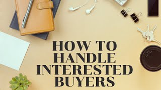 What if a Buyer just Knocks on My Door?