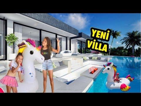 YENİ VİLLA TURU   New House Tour - Eğlenceli Çocuk Videosu Sevimli Kardeşler