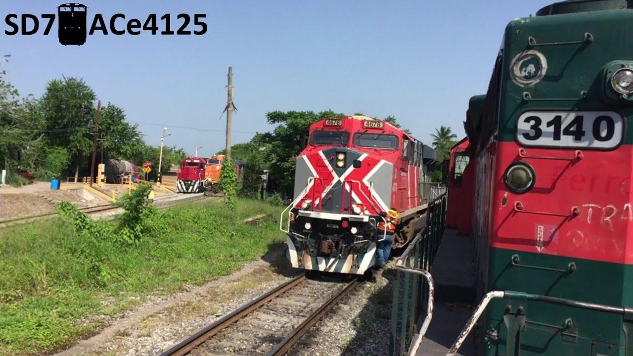 Silbatazos, porras y saludos de Maquinistas!!🚂 Ferromex GECX y KCSM Varios Trenes en Altamira Tamps