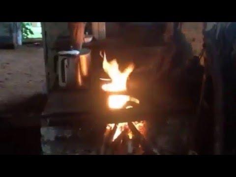 Fogo purificador do fogão a lenha de Pai Tomé