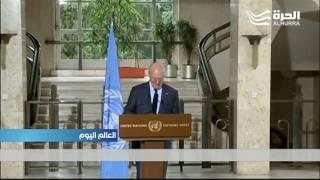 تعليق عمل فرق الإغاثة الأممية في سورية و دي مستورا يدعو إلى هدنة ليومين أسبوعيا في حلب