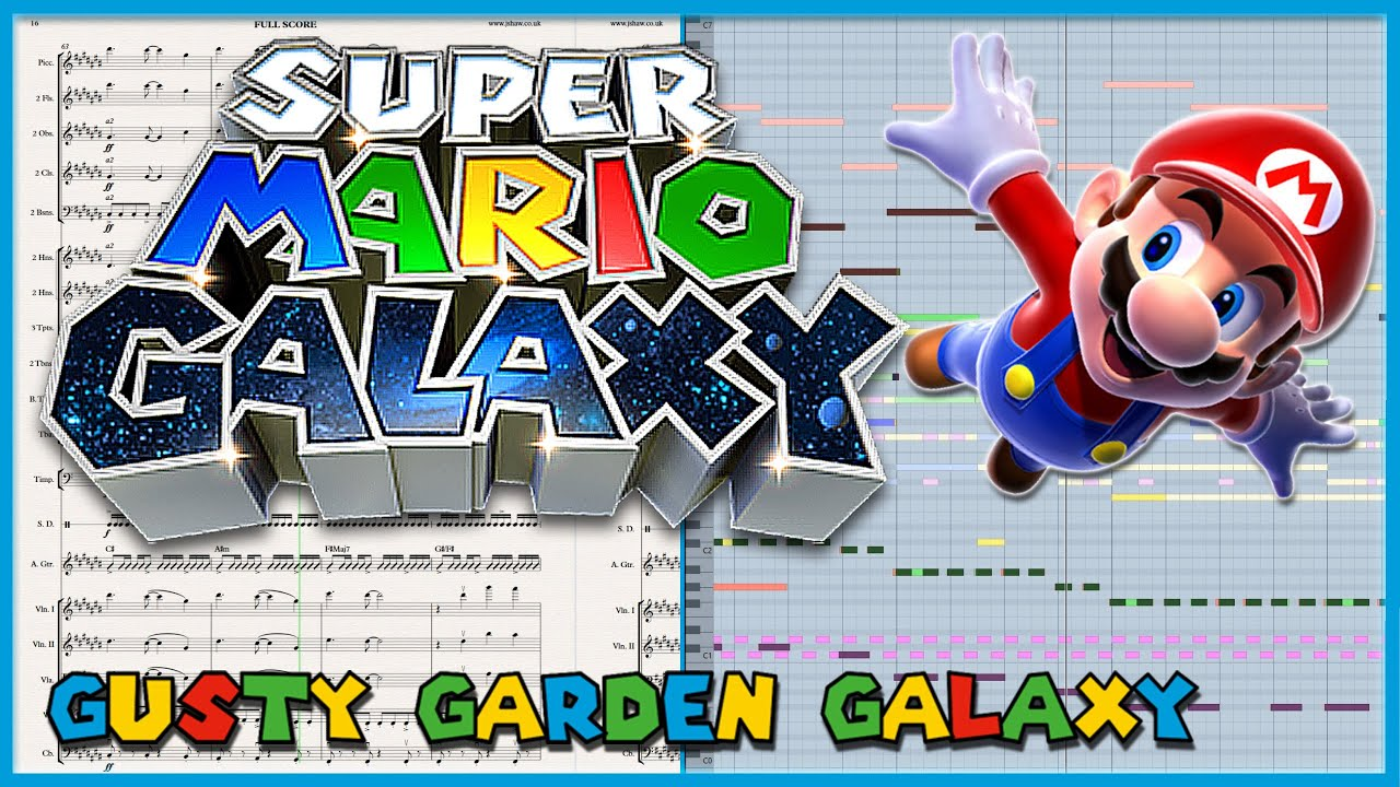 "New Transcription: ""Gusty Garden Galaxy"" from Super Mario Galaxy (2007)"