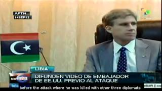 Video of Christopher Stevens before the attack