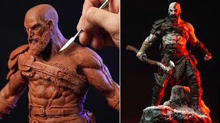 Sculpting KRATOS | God Of War 4 - Timelapse