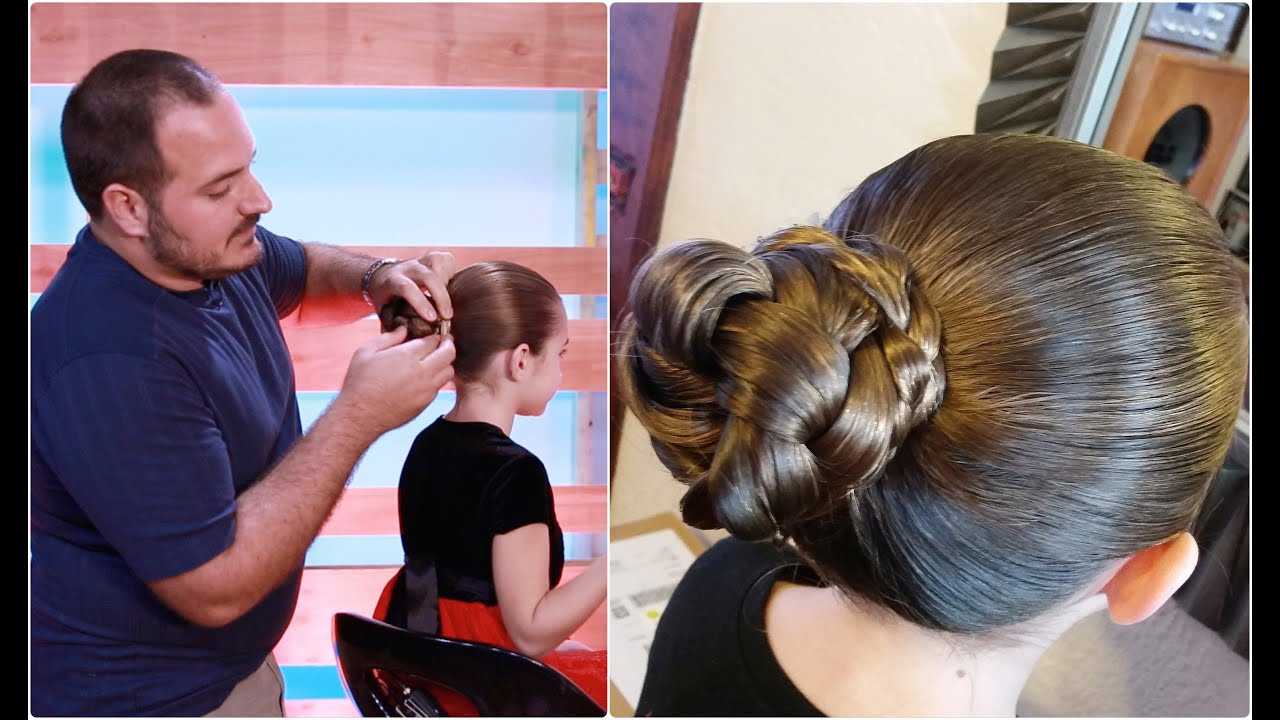 Preteen Hair Styles For Fatherdaughter Dance Simple Braided Bun Daddy Do Hairstyles Youtube