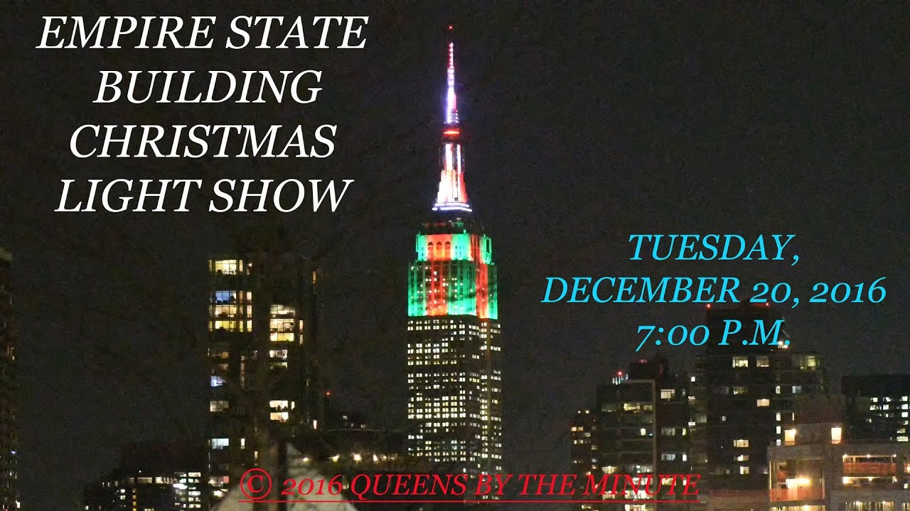 EMPIRE STATE BUILDING CHRISTMAS LIGHT SHOW - YouTube