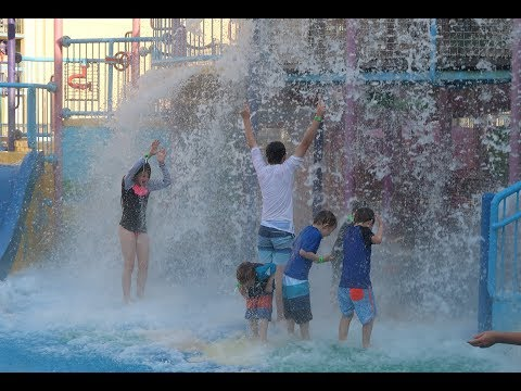 Gold Coast - Paradise Resort Day 2- Waterpark Fun with 10 kids!!