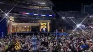 Obama accepts the Democratic Party nomination - 29 Aug 08