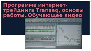 Программа интернет-трейдинга Transaq, основы работы. Обучающее видео