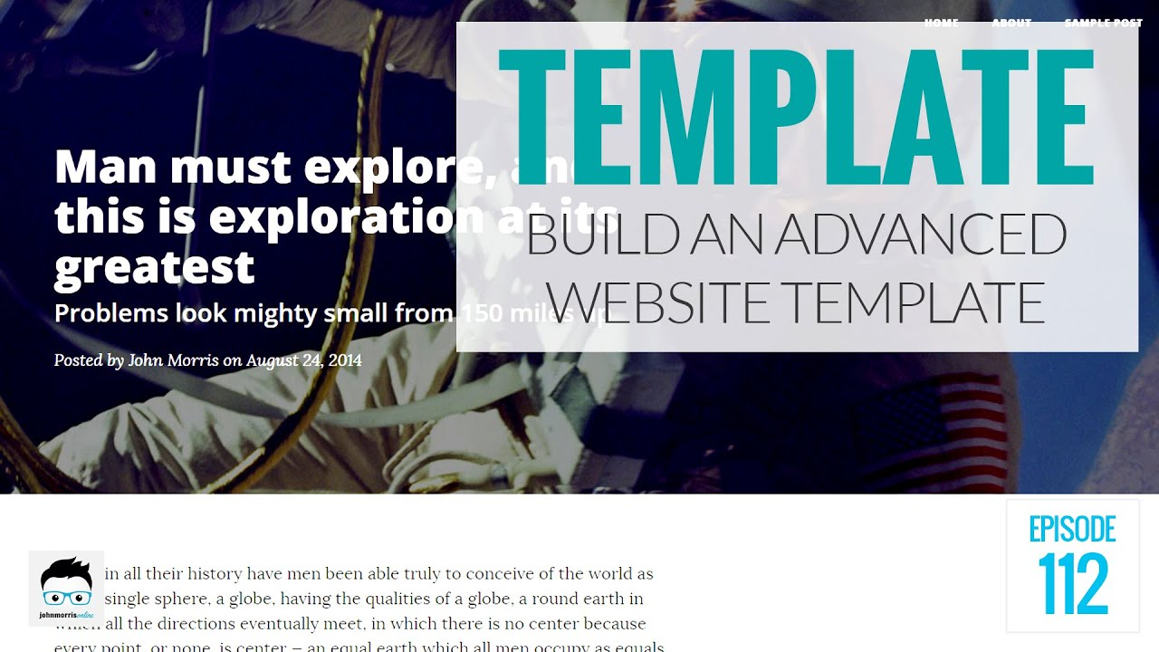 How to build an advanced website template using php and bootstrap how to build an advanced website template using php and bootstrap youtube pronofoot35fo Image collections