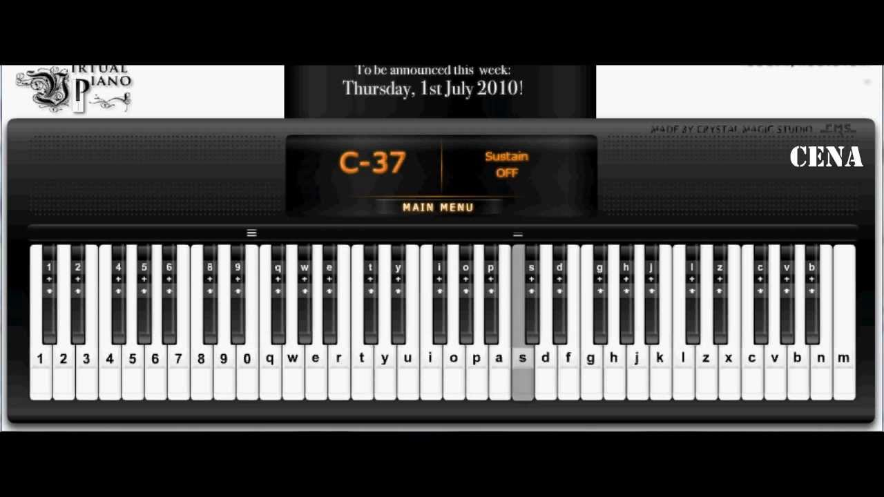 happy birthday full virtual piano with autokeyboard youtube. Black Bedroom Furniture Sets. Home Design Ideas