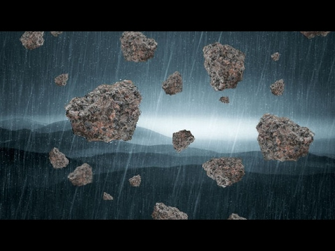 strange and mysterious stone rain  caught on tape