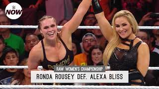 Ronda Rousey victorious in first Raw Women's Title defense: WWE Now
