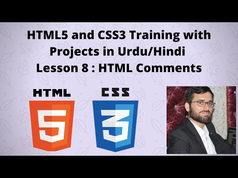 HTML5 and CSS3 tutorials in Urdu/Hindi : Lesson # 8 HTML Comments thumbnail