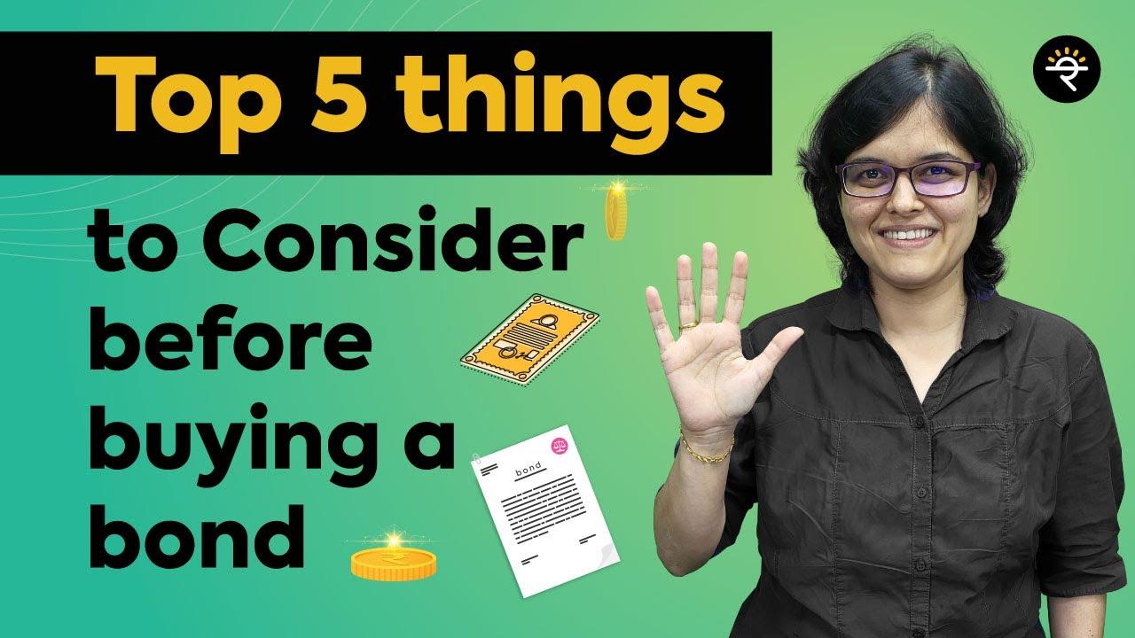 Top 5 things to consider before buying a Bond | CA Rachana Ranade