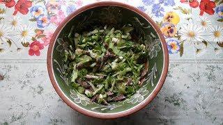 Как приготовить салат из куриной печени!? Салат из куриной печени видео.
