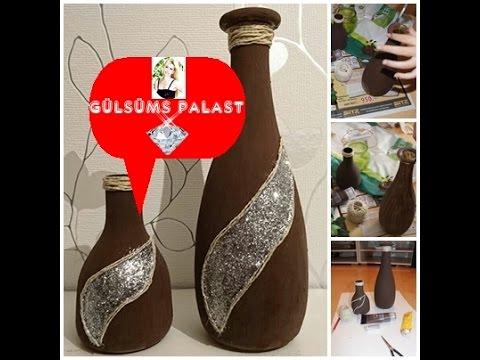 DIY: Vase decoration /  deko / vazo dekerasyonu / vazo / Gülsümün sarayi