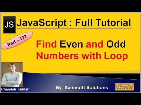 Find Even and Odd numbers with Loops in JavaScript | JavaScript Full Tutorial in Hindi thumbnail