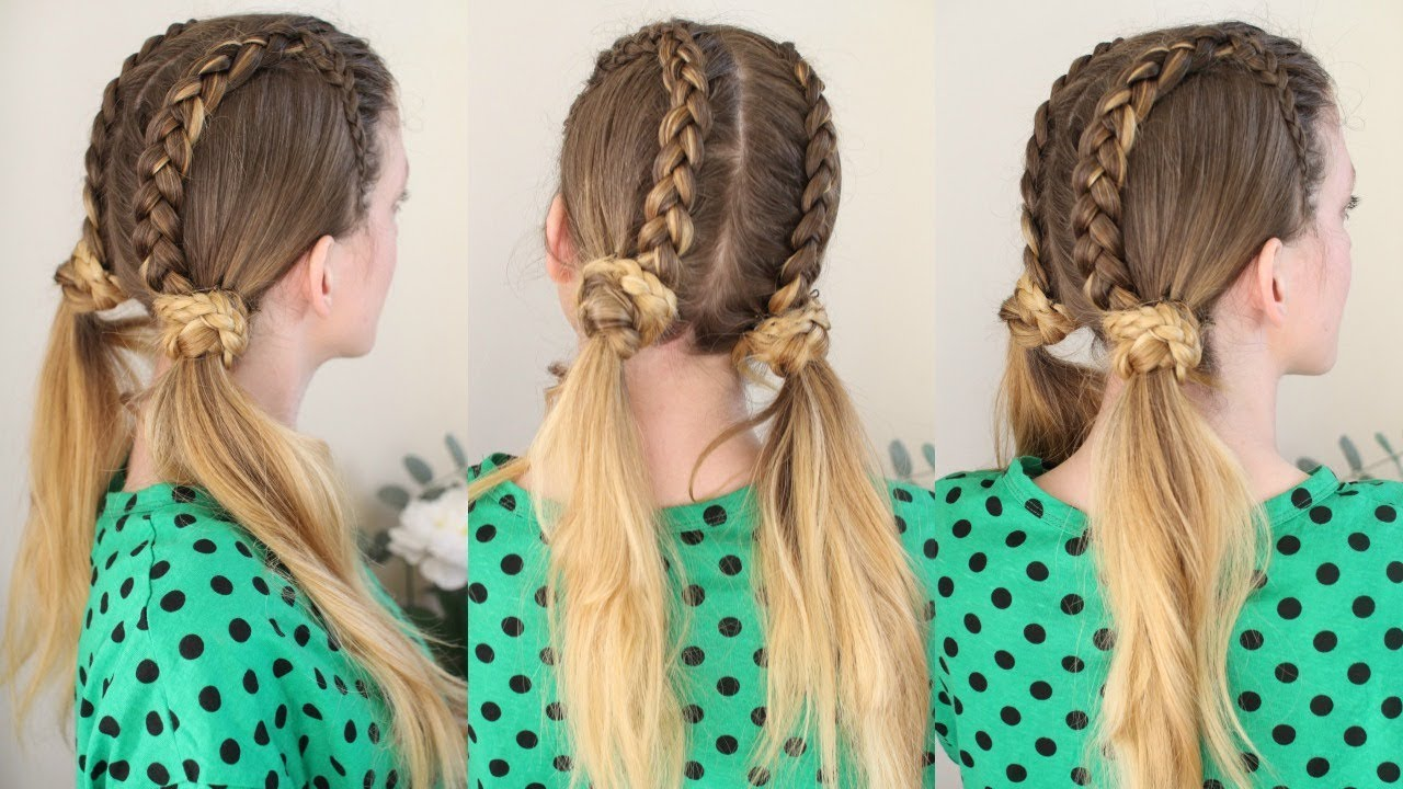 Braided Pigtail Lace braids | Braided Pigtails | Braidsandstyles12 - YouTube