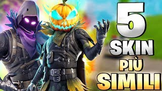 THE 5 SKIN MORE SIMILI OF THE FORTNITE ⛏️ Crazyx